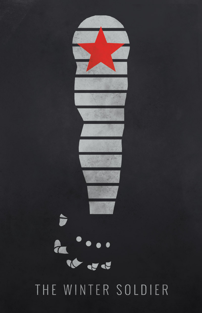 6 Minimalist Posters Inspired By Captain America The Winter Soldier