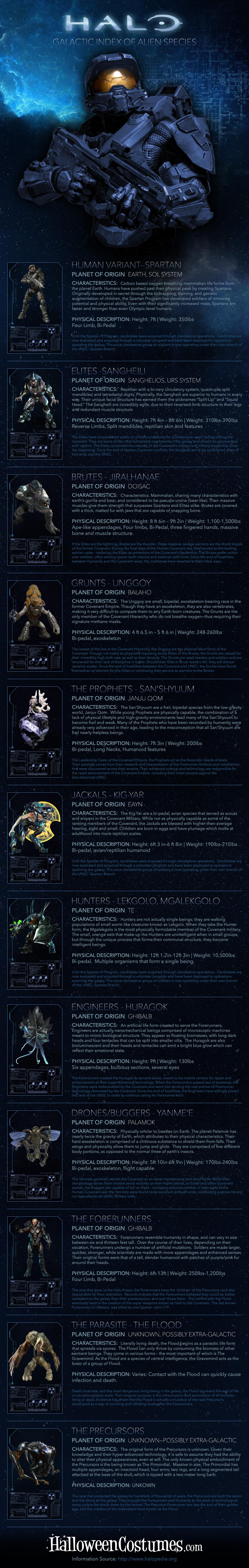 Halo Aliens Infographic