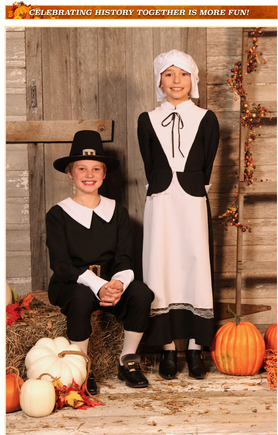 Kids Pilgrim Costumes