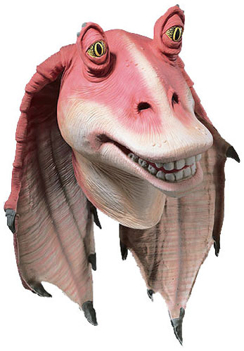 Deluxe Jar Jar Binks Mask   Rubber Star Wars Masks