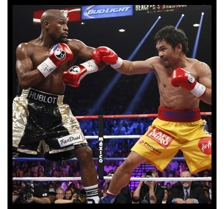 Floyd Mayweather, Jr. and Manny Pacquiao Head to Head