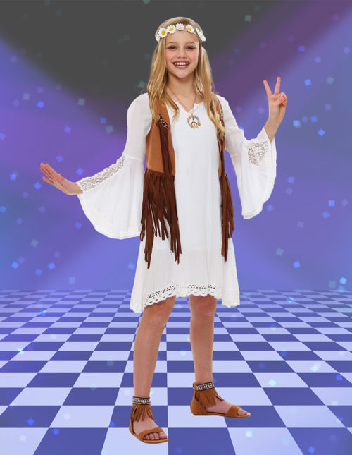 Girls 70s Dress Costume
