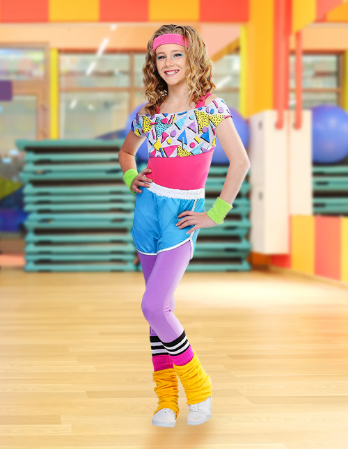 Girl's 80s Dance Outfit