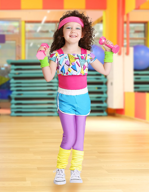 Toddler 80s Workout Costume