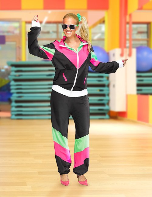 Women's 80s Tracksuit Costume