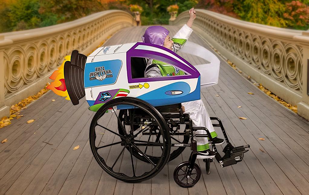 Buzz Lightyear Wheelchair Cover Costume