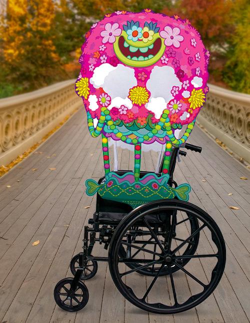Trolls Wheelchair Decoration