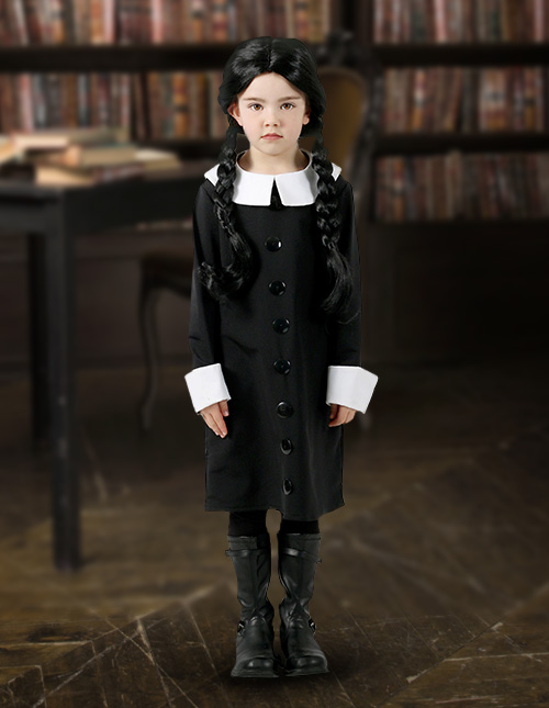 Wednesday Addams Costume Kids