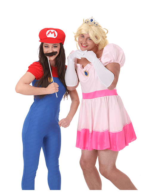 Mario and Princess Peach Costumes  sc 1 st  Halloween Costumes & Halloween Costumes for Adults