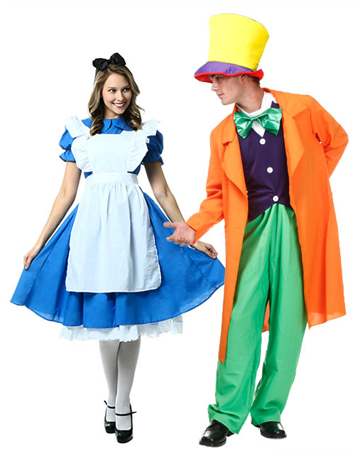 Alice and Mad Hatter Costume Pose