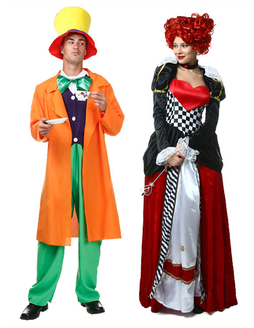 Mad Hatter and Queen of Hearts Costume Pose