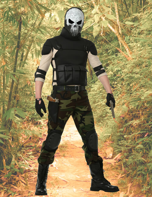 Skull Army Outfit