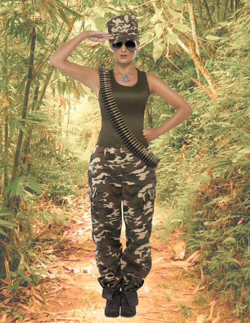 Women's Camo Military Costume