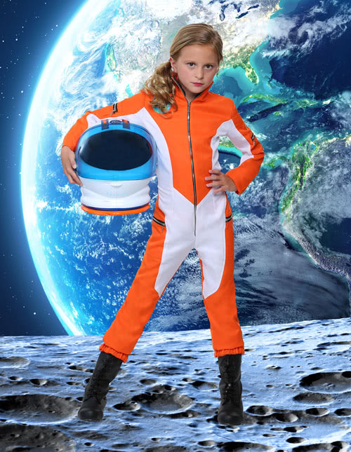 Girl's Astronaut Costume