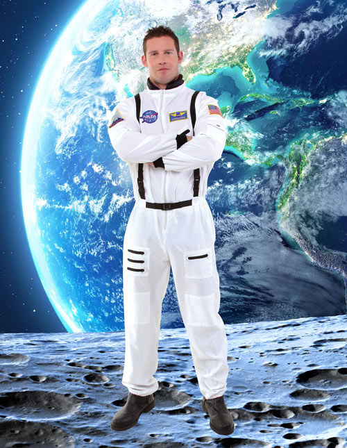 Astronaut Costumes Adult Kids Astronaut Halloween Costume