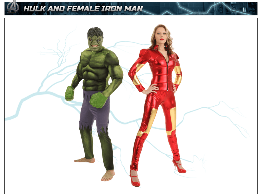 Hulk Costume and Female Iron Man Costume