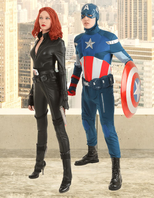 Captain America and Black Widow Halloween Costume