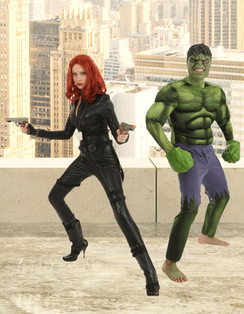 Hulk and Black Widow Costume