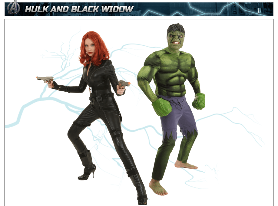 Hulk Costume and Black Widow Costume