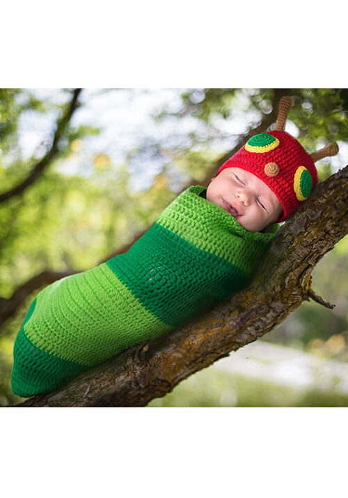 Newborn Casey the Caterpillar Bunting