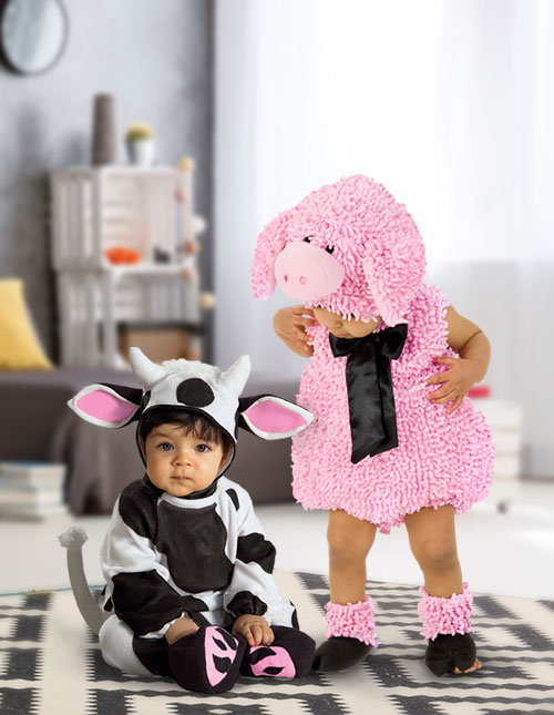 Baby Cow and Pig Costumes