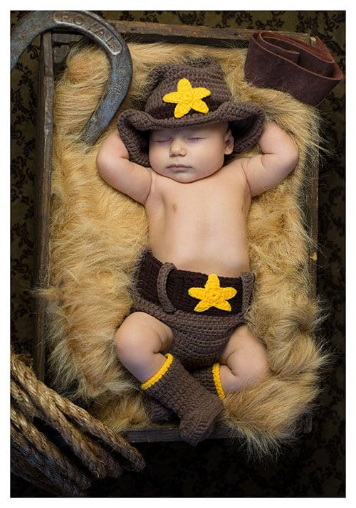 Newborn Cowboy Hat and Diaper Cover