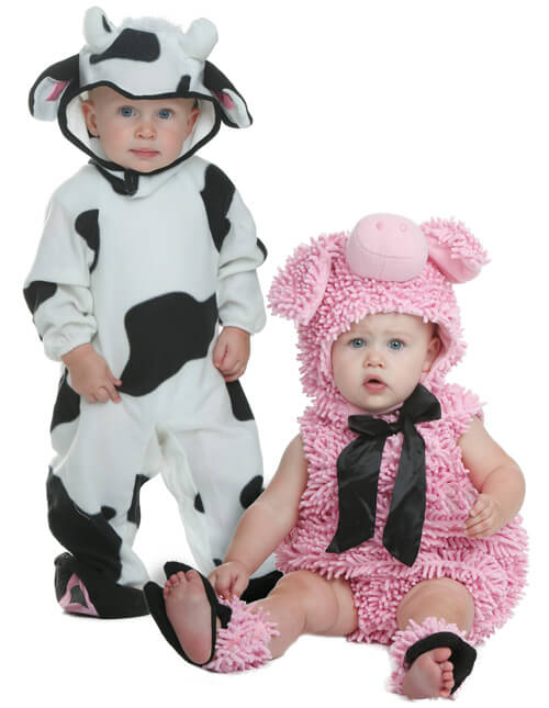 cow and pig costumes
