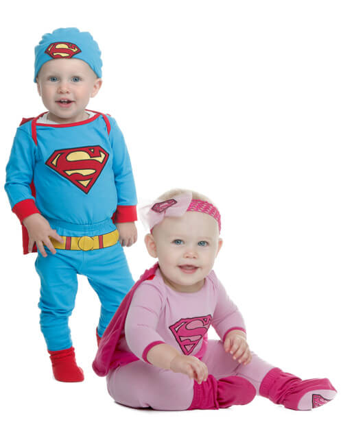 Superman and Supergirl Costumes  sc 1 st  Halloween Costumes & Newborn u0026 Baby Halloween Costumes