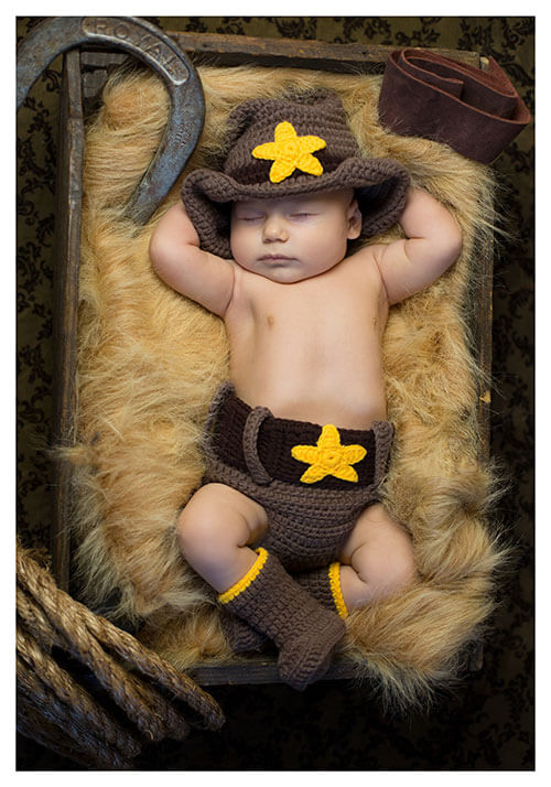 Newborn Cowboy Hat and Diaper Cover