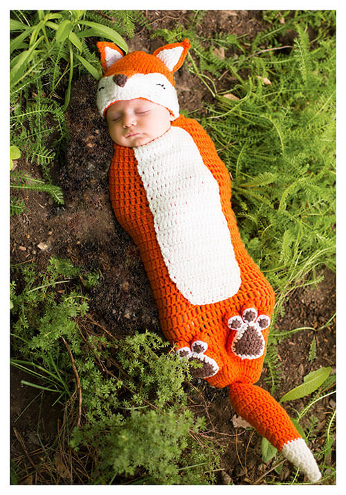 Newborn Kit the Fox Bunting