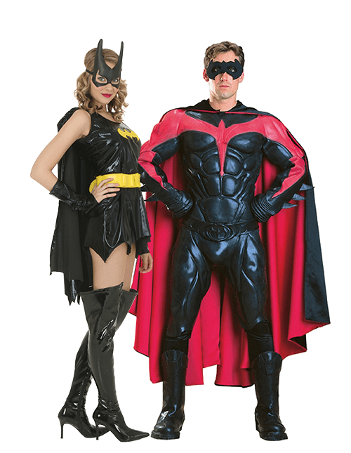 Robin and Batgirl Couples Costumes