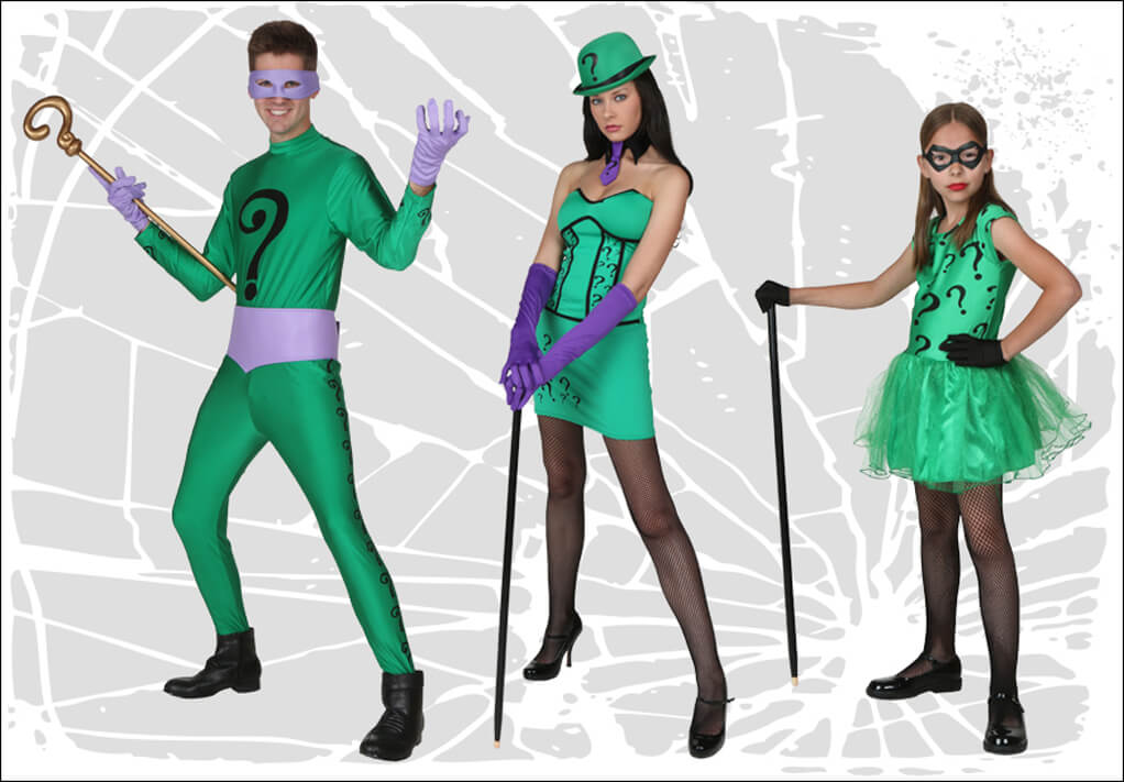 Riddler Costumes for Men, Women and Girls