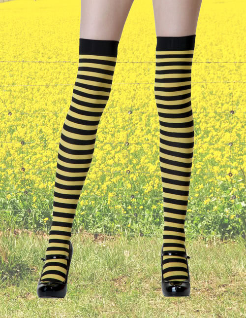 Bee Costume Striped Stockings