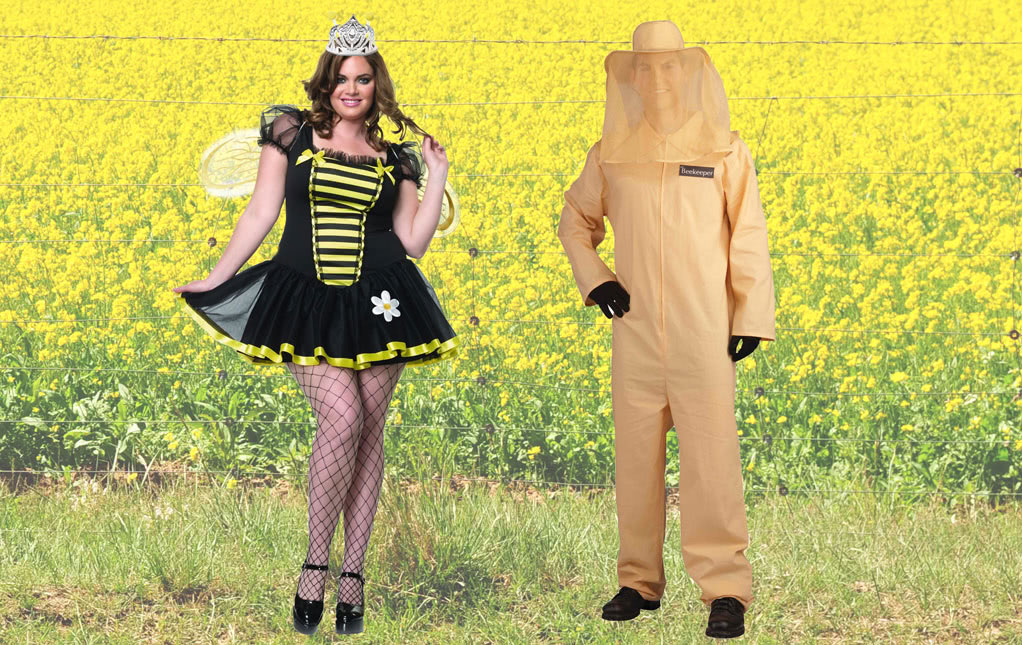 Bee Keeper Costume and Queen Bee Costume for Couples
