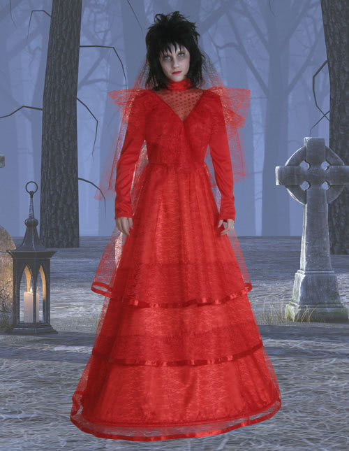 Red Wedding Dress Costume