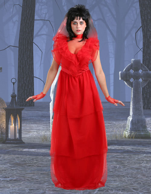 Red Gothic Wedding Dress