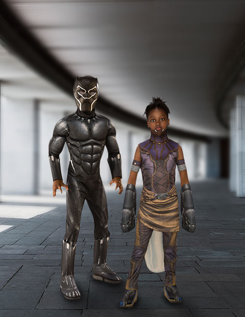 Black Panther and Shuri