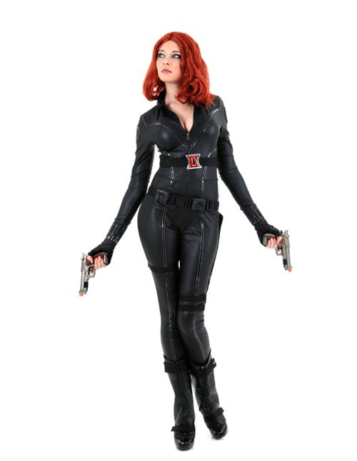 Heroic Gun Stance Black Widow Pose