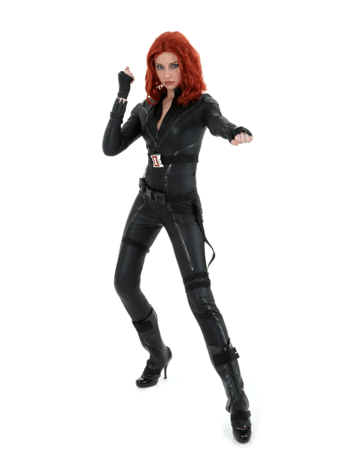 She Packs a Punch Black Widow Pose