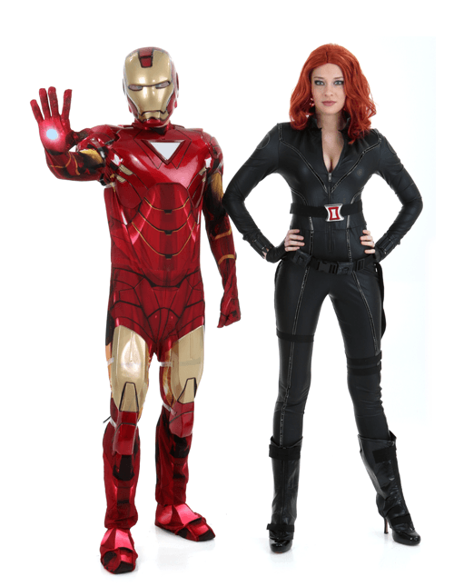 Black Widow and Iron Man Couple Costumes