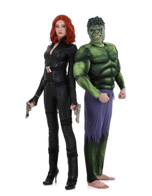 Black Widow and The Incredible Hulk Couple Costumes