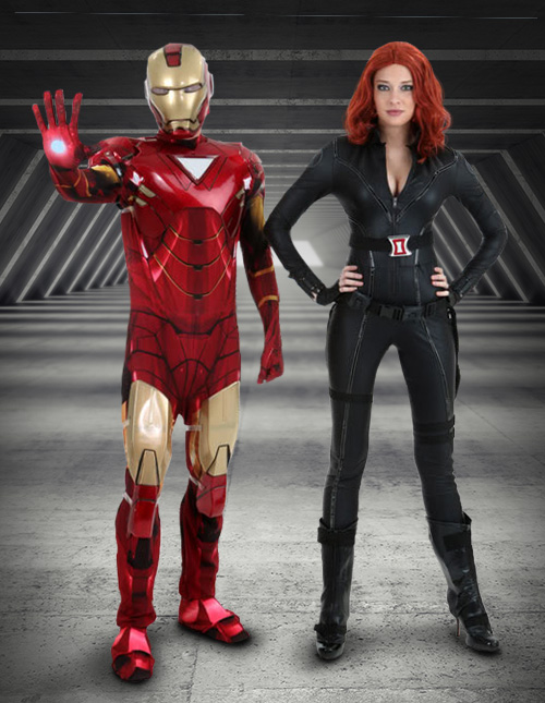 Iron Man and Black Widow Outfit Idea