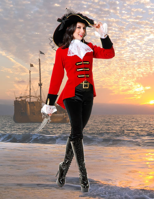 6edabed42 Captain Hook Halloween Pirate Costumes