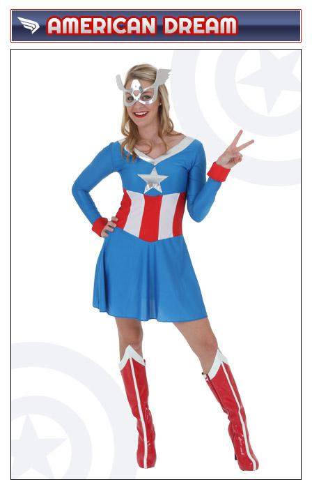Womens American Dream Captain America Costume