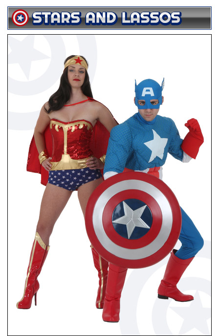 Captain America and Wonder Woman Couples Costume  sc 1 st  Halloween Costumes & Captain America Costumes - Adult Kids Woman Captain America Costume