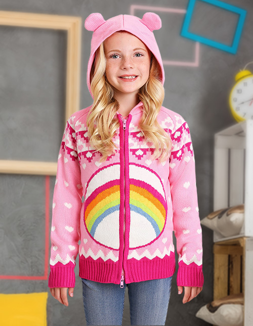 Girls' Cheer Bear Sweater