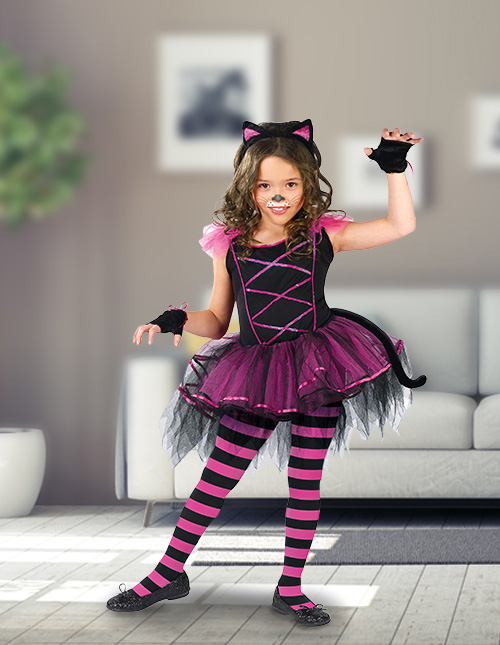 Girls' Cat Costume