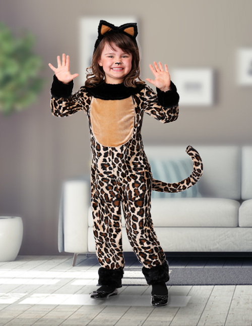 Girls' Leopard Costume