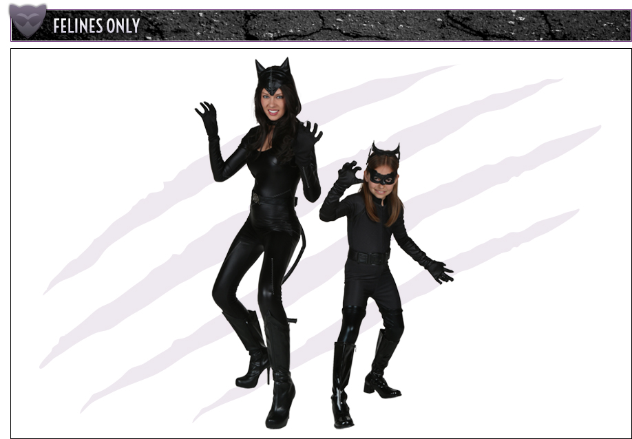 Adult and Child Catwoman Dark Knight Costumes