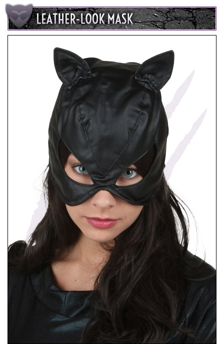 Leather-Look Mask & Catwoman Halloween Costumes - Sexy Catwoman Costume